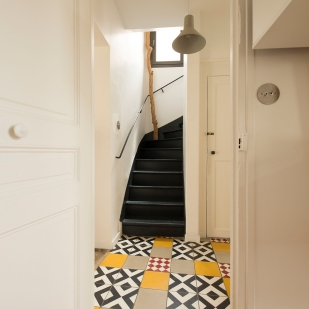 Escalier conservé repeint